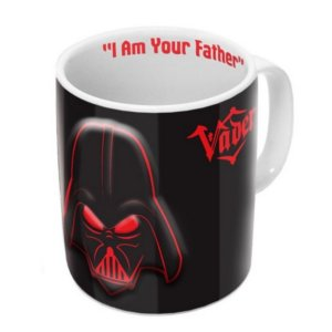 Mug Star Wars Dark Vador rouge et noir