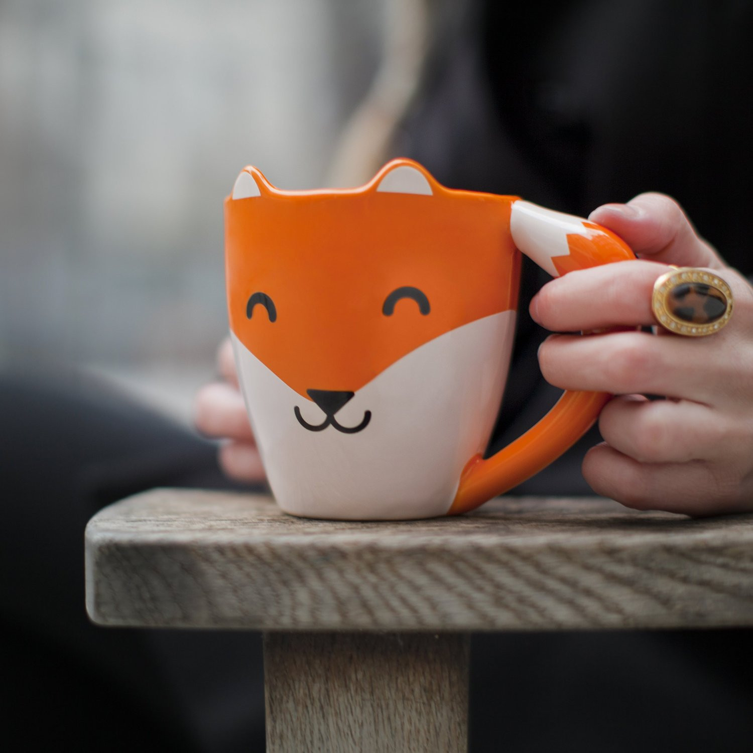 mug renard mug mignon en forme de renard objet insolite. Black Bedroom Furniture Sets. Home Design Ideas