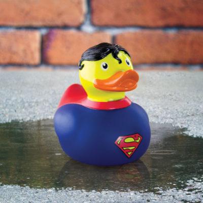Canard de bain Superman en caoutchouc sous licence DC Comics
