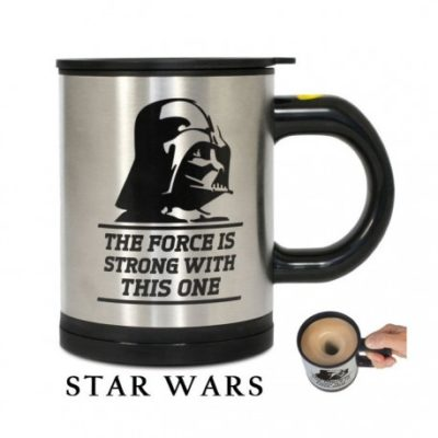 Mug mélangeur automatique Star Wars à l'effigie de Dark Vador