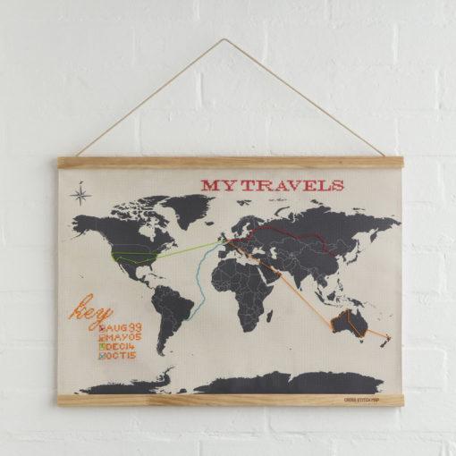 Carte du monde à broder