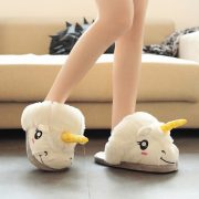 chaussons femme licorne