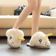 chaussons femme licorne