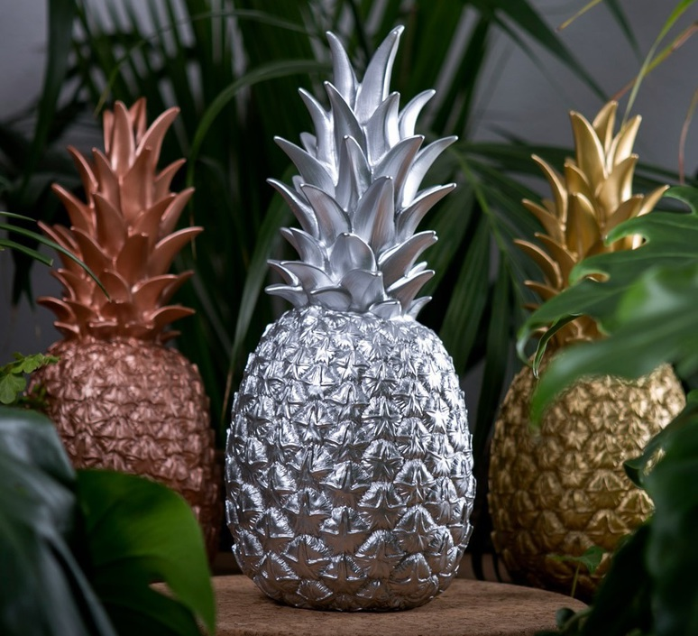 lampe ananas en argent pi a colada goodnight light en vinyle moul. Black Bedroom Furniture Sets. Home Design Ideas