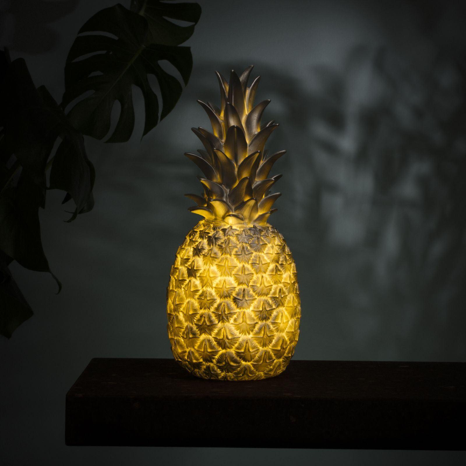 lampe ananas en argent pi a colada goodnight light en vinyle moul. Black Bedroom Furniture Sets. Home Design Ideas