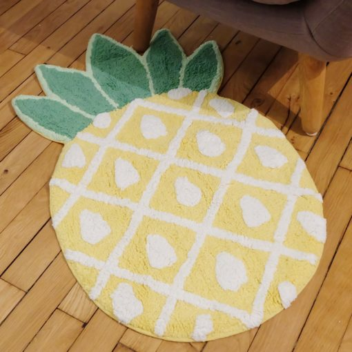 tapis de salle de bain ananas