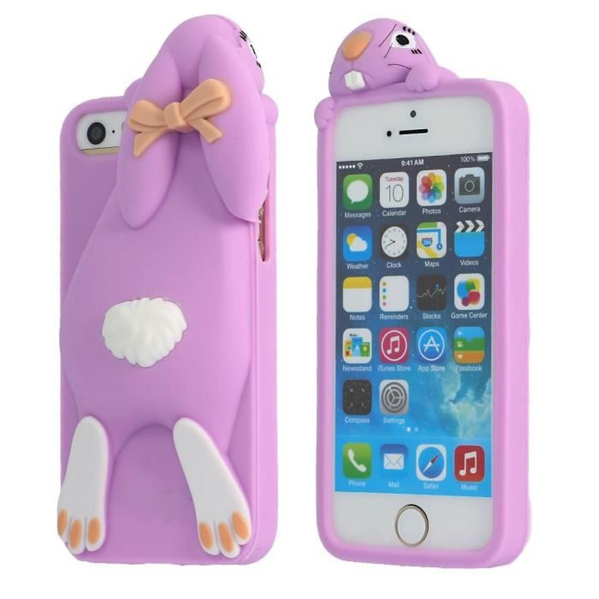 Coque iPhone Lapin 3D