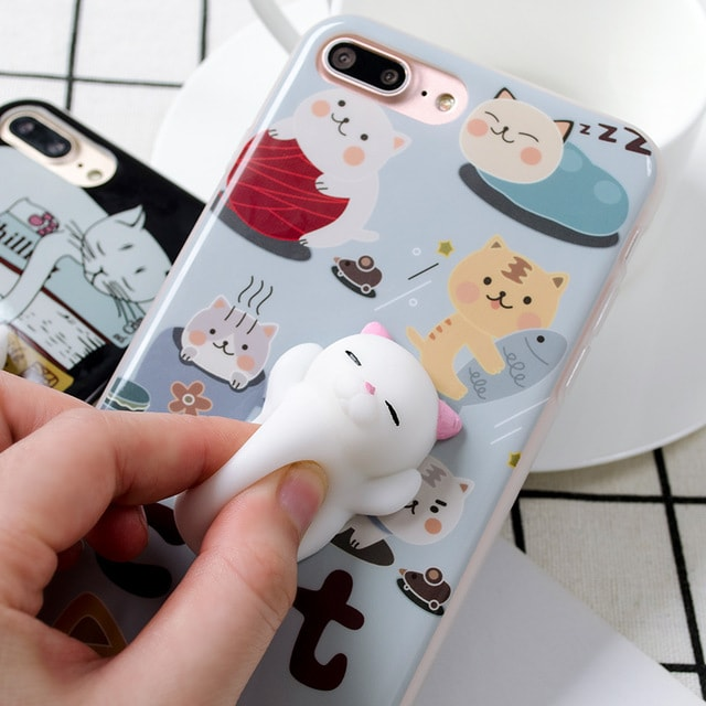 Coque iPhone Chat antistress
