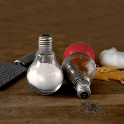 Salière et poivrière ampoules