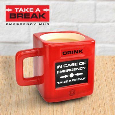Mug rigolo d'urgence