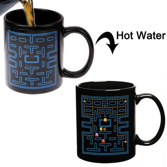 mug thermor actif pacman qui change de couleur avec la chaleur. Black Bedroom Furniture Sets. Home Design Ideas