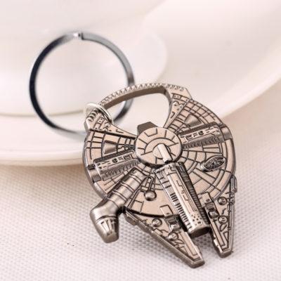 Porte-clés décapsuleur Star Wars en forme de Faucon Millenium