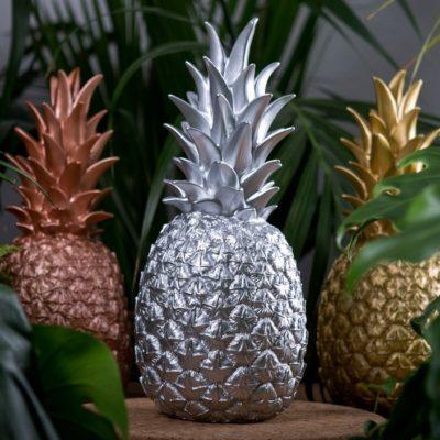lampe argentée ananas